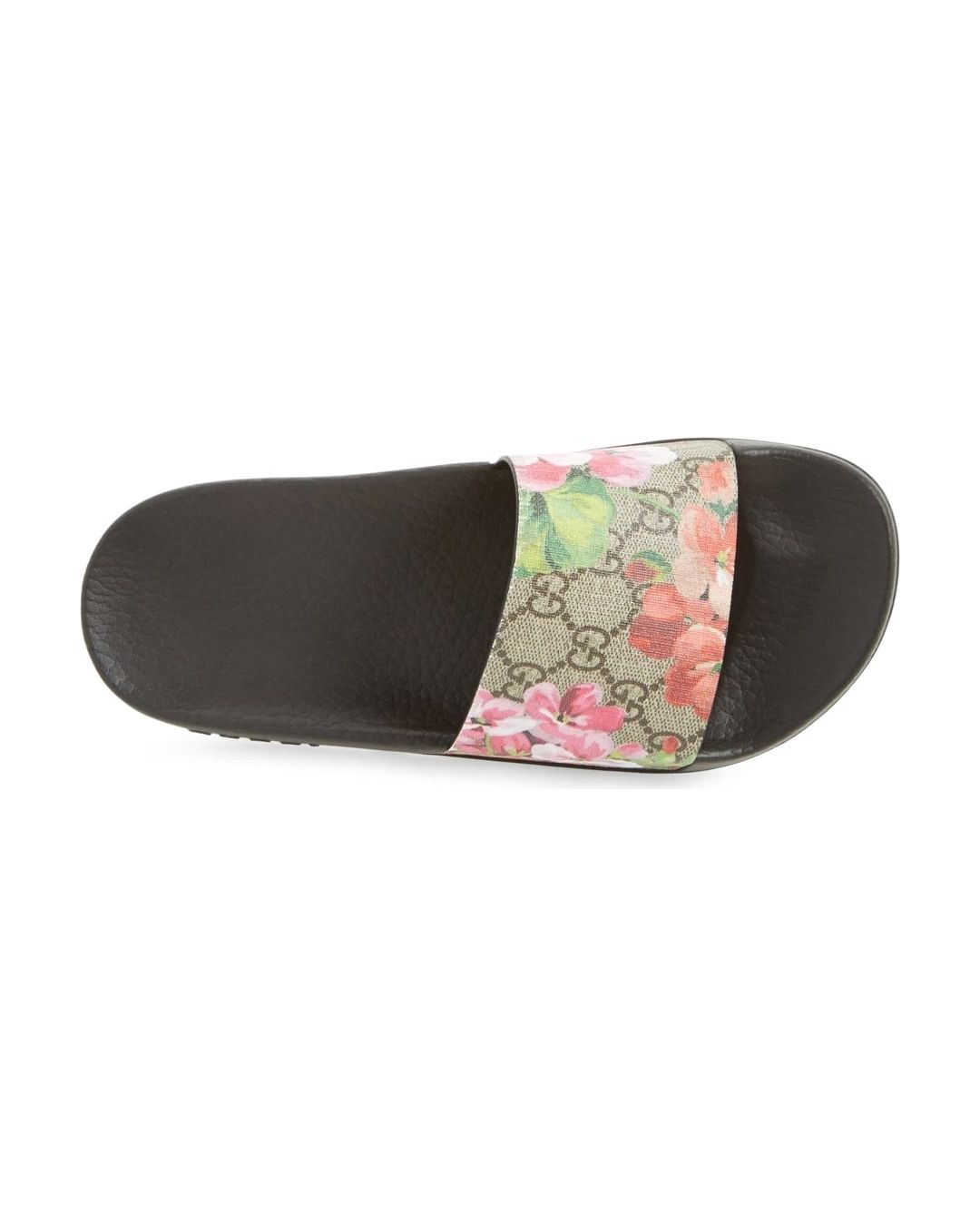 485d286c13c Where to Buy. FarFetch.com- UK. Gucci GG Blooms Supreme slide sandals ...