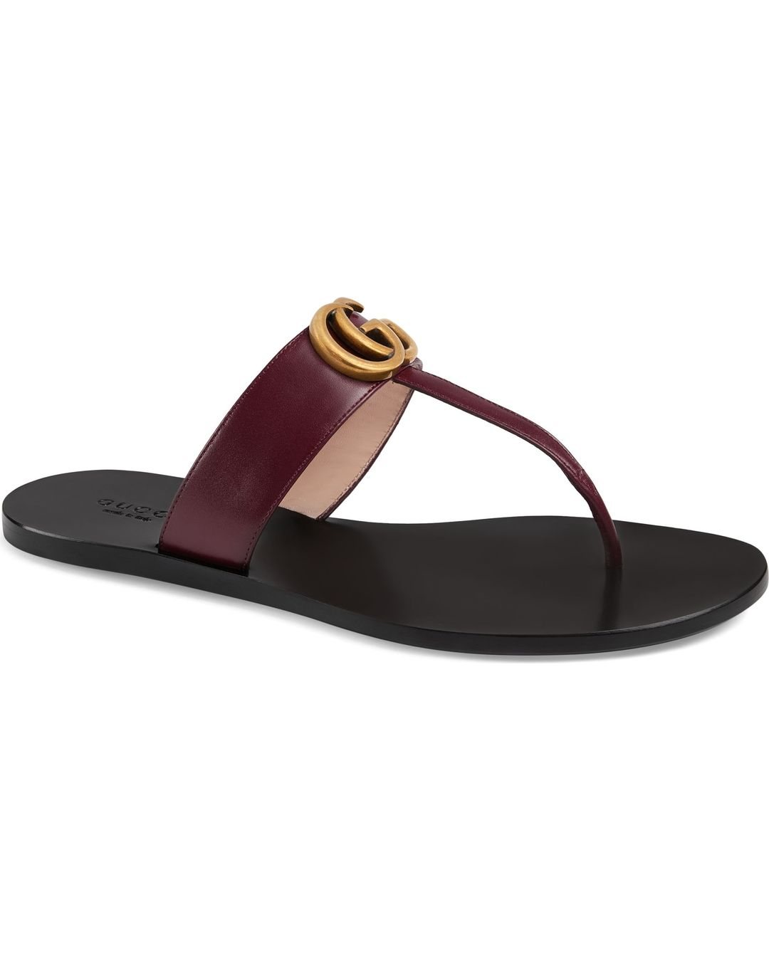 6af8c39d85ae Gucci Leather Thong Sandal With Double G Reviews