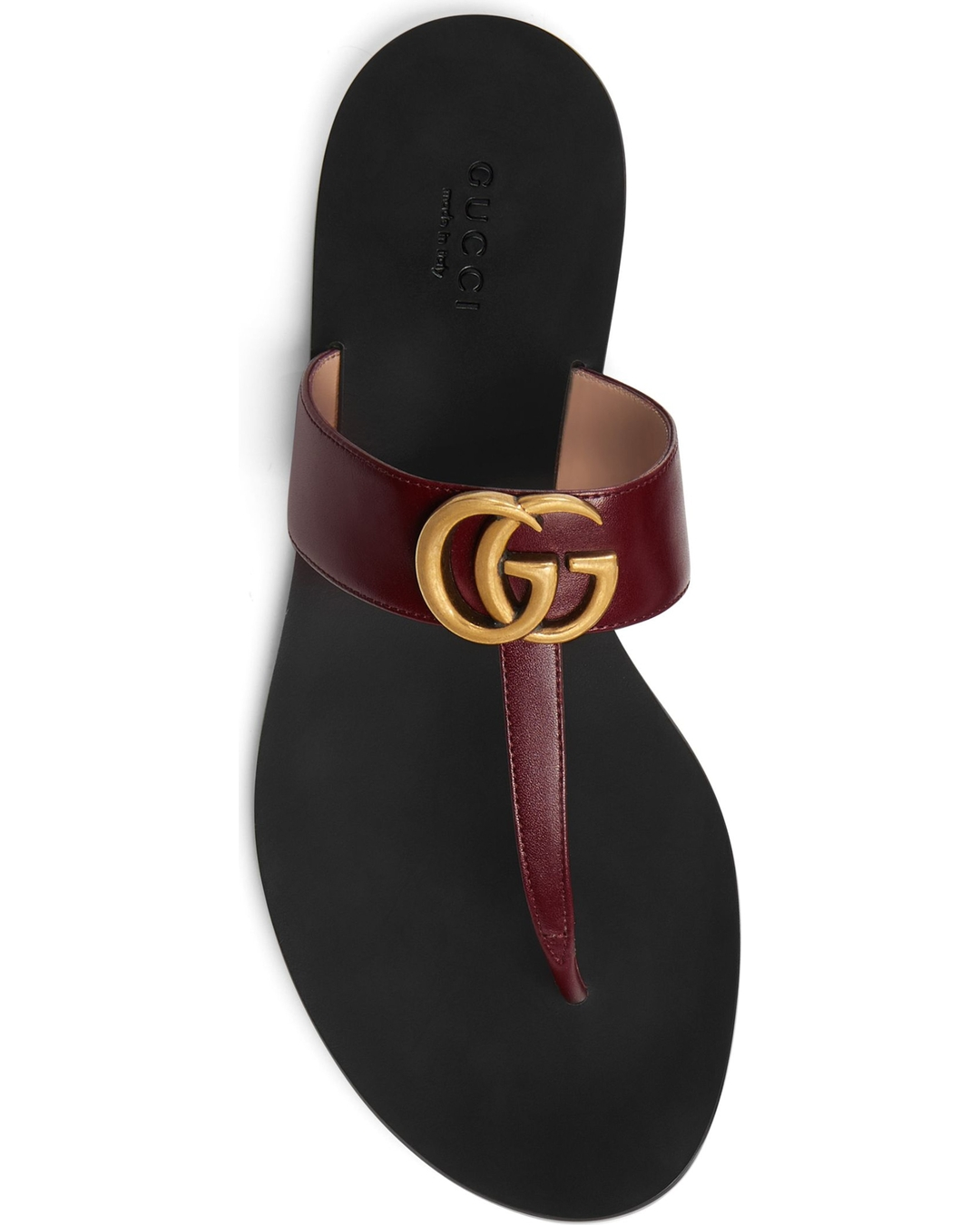 78bc15cc1e2b Gucci Leather Thong Sandal With Double G Reviews and Sizing – Only ...