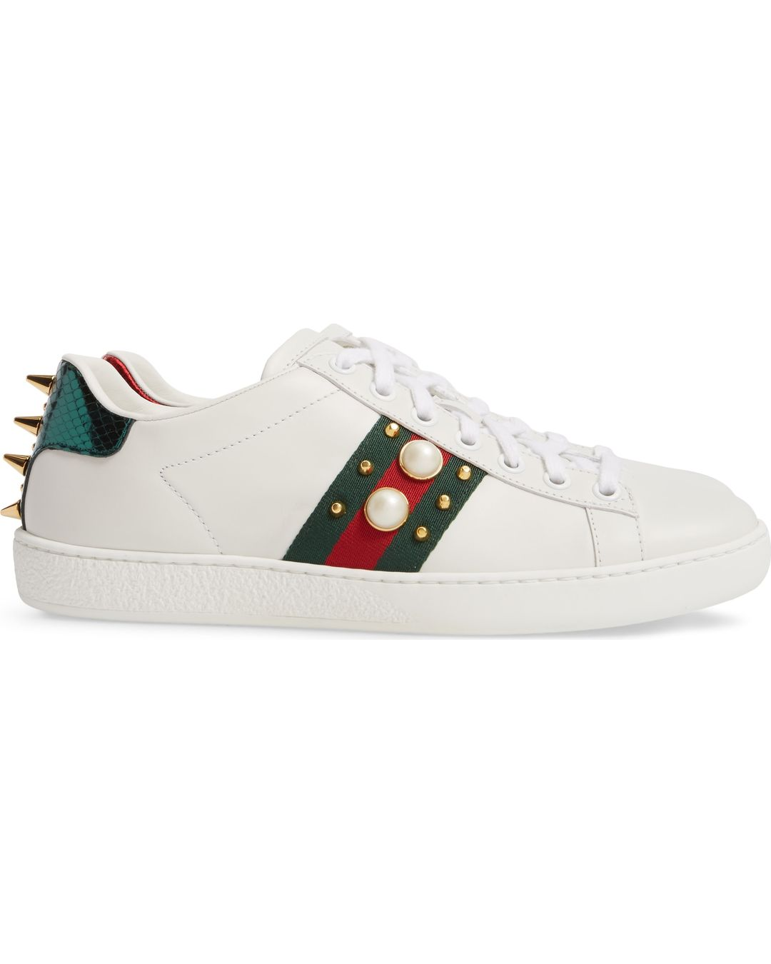 c77decb2e41 Where to Buy. Nordstrom. Men s Gucci New Ace Webbed Low Top Sneaker
