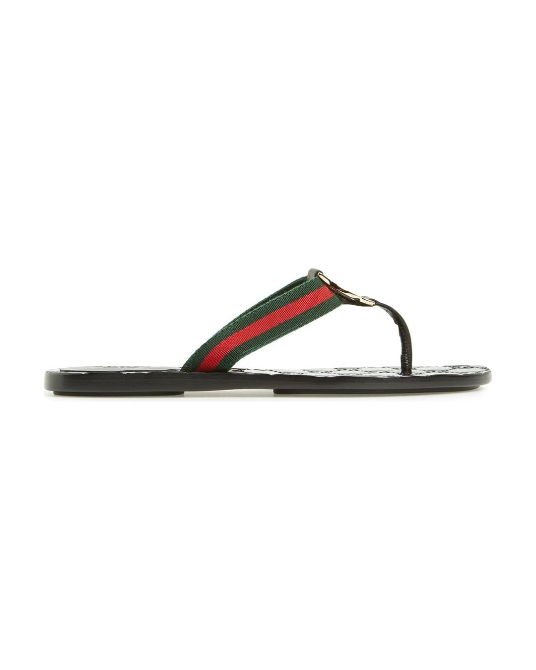 59aa87b03 Where to Buy. FarFetch.com- UK. Gucci GG thong Web sandal ...